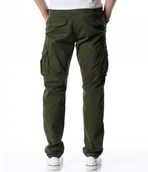 Едноцветен карго панталон