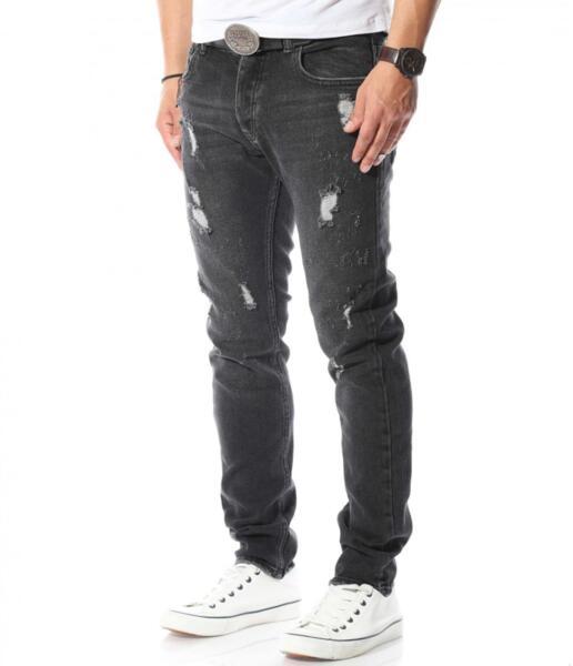 Черни дънки с кръпки