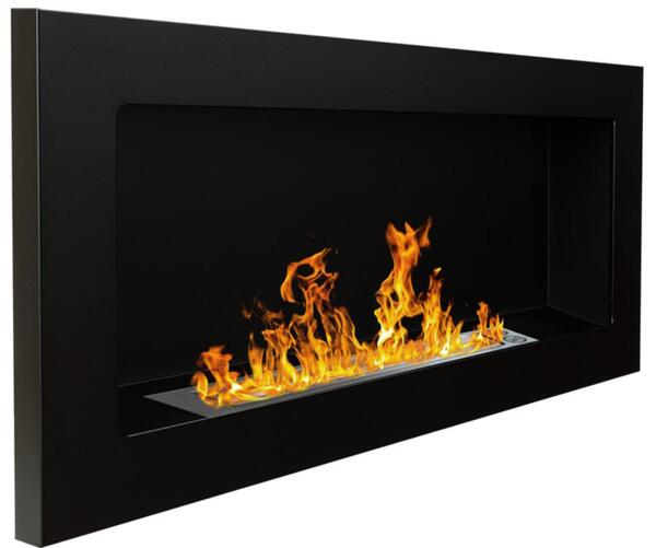 Биокамина Infinity 900 х 400 Black + подарък регулация на пламъка