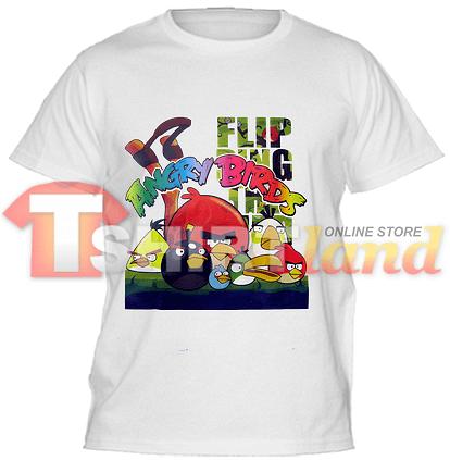 Детска тениска Angry Birds Slingshot