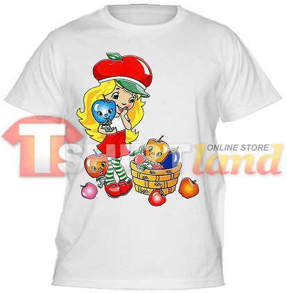 Детска тениска Момиче с ябълки