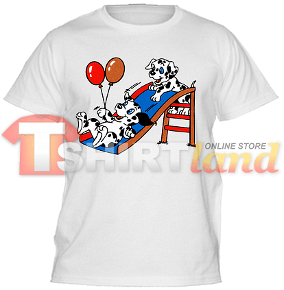 Детска тениска Далматинци на пързалка