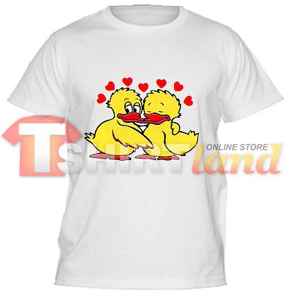 Детска тениска с влюбени патенца