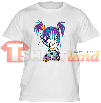 Детска тениска Момиче с телефон