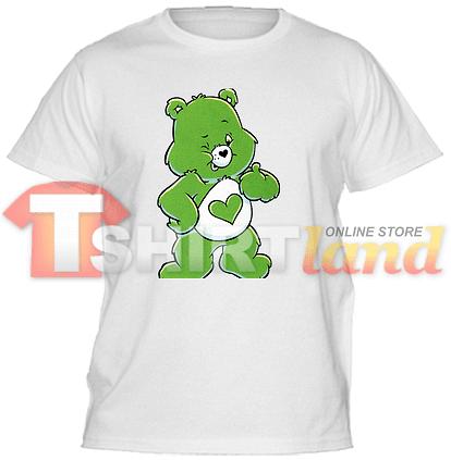 Детска тениска със зелено мече