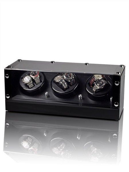 Кутия за самонавиващи се часовници Rothenschild Bergamo RS-2300-BK Black-Black For 6 Automatic Watches