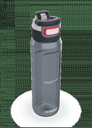 Бутилка за вода от тритан Kambukka Elton, без ВРА, с капак 3 в 1 Snapclean®, 1000 мл, графитеносиво