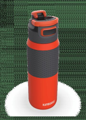 Бутилка за вода двустенна Kambukka Elton Insulated с капак 3 в 1 Snapclean®, 750мл, оранжева