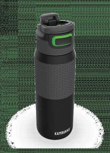 Бутилка за вода двустенна Kambukka Elton Insulated с капак 3 в 1 Snapclean®, 750мл, черна