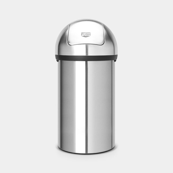 КОШ ЗА СМЕТ 60 L BRABANTIA PUSH MATT STEEL