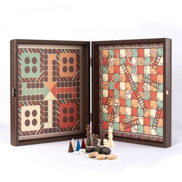 Комбинирана игра Шах/Табла/Не се сърди човече/Змии - Винтидж