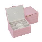 Кутия за бижута цвят пудра - ROSSI