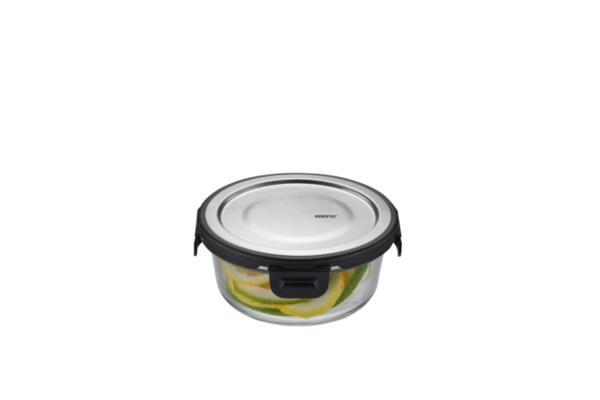 """GEFU Кръгла стъклена кутия за храна """"MILO"""" - 400 мл."""