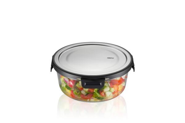 """GEFU Кръгла стъклена кутия за храна """"MILO"""" - 900 мл."""