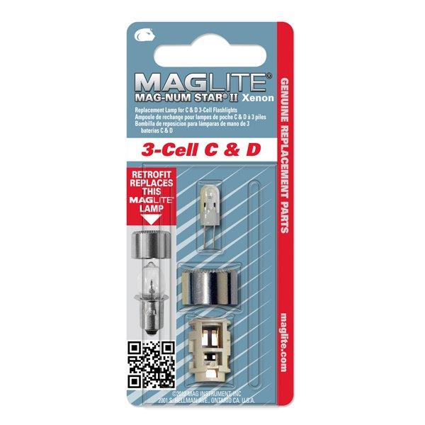 Резервна ксенонова крушка за фенер Maglite 3-Cell C & D