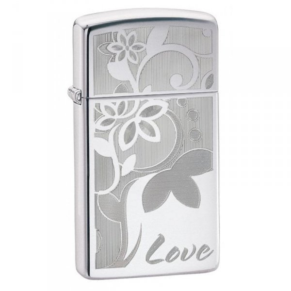 Запалка Zippo Slim® High Polish Chrome