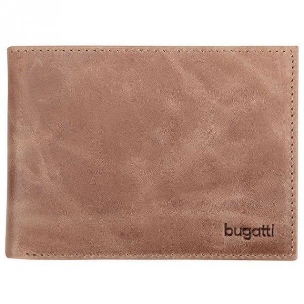 Хоризонтален кожен портфейл Bugatti Bogota