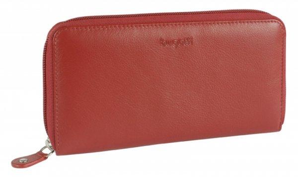 Дамски кожен портфейл Bugatti Vertice (8CC), червен