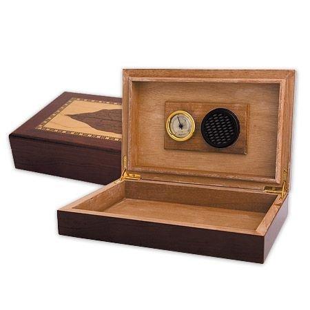 Дървена кутия за пури SILVER FLAME