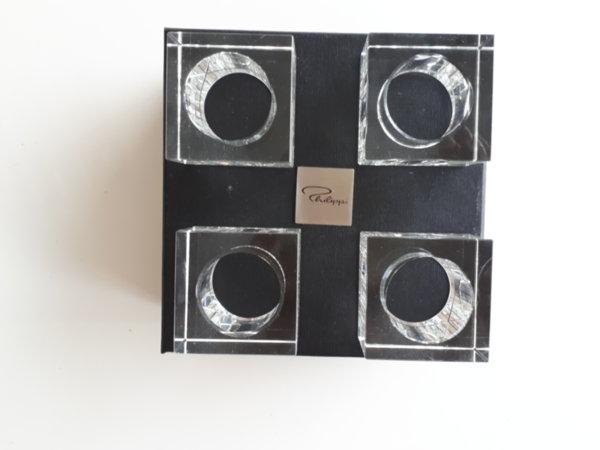 Стъклени пръстени за салфетки