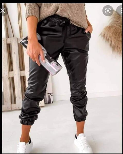 Кожен Панталон -01