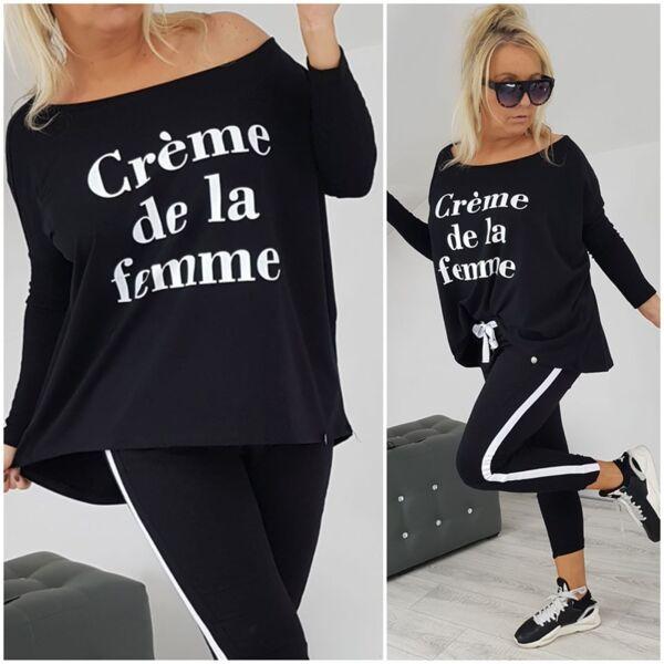 Комплект Амая с черна блузка