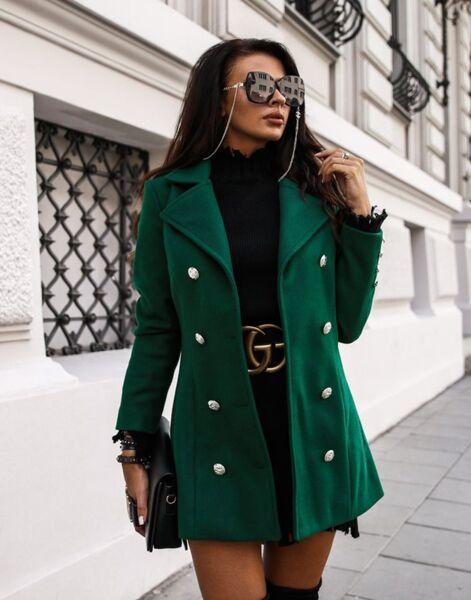 Спортно палто Венера в тъмно зелено