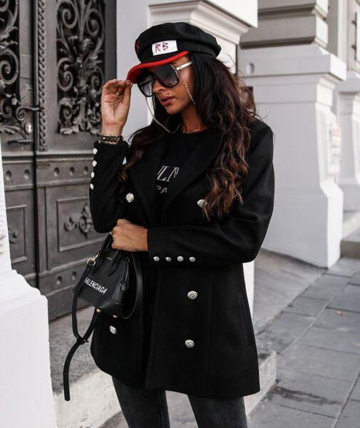 Спортно палто Венера в черно
