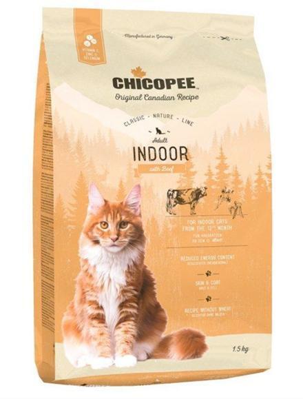 Храна за котка Chicopee Classic Nature Line Adult Indoor с говеждо