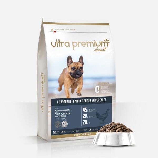 Ultra Premium Direct Аdult mini breeds - суха храна за пораснали кучета от мини породи, с ниско съдържание на зърно