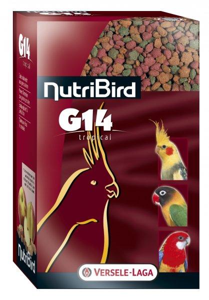 Пълноценна екструдирана храна за средни папагали NUTRIBIRD G14 Tropical