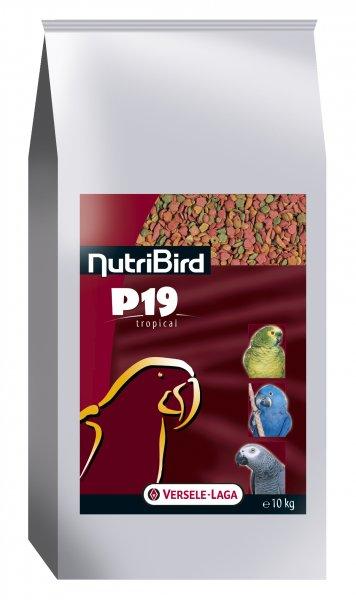 Пълноценна екструдирана храна за големи папагали, канарчета и финки NUTRIBIRD Р19 Tropical