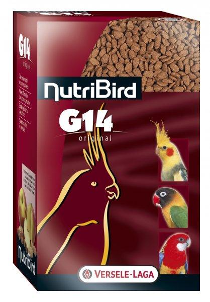 Пълноценна екструдирана храна за средни папагали NUTRIBIRD G14 Original