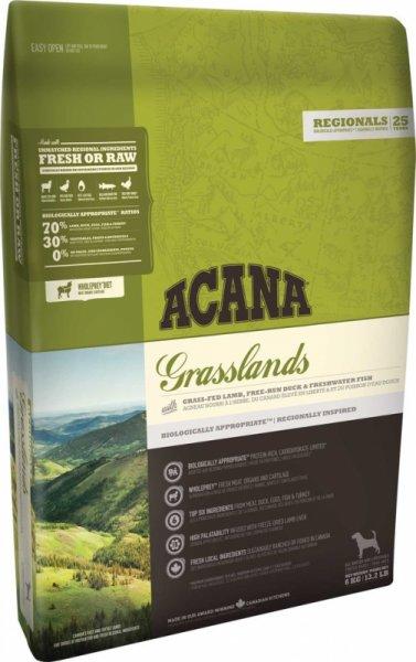 ACANA GRASSLANDS суха храна за куче с агне, патица и щука 11.4кг.
