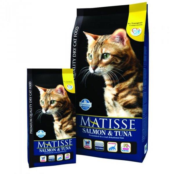 MАТISSE 32/11 храна със сьомга и риба тон за котки над 1 г. с капризен апетит