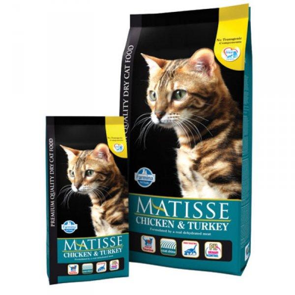 MATISSE 32/11 храна за котки в зряла възраст с пиле, пуйка и зеленчуци