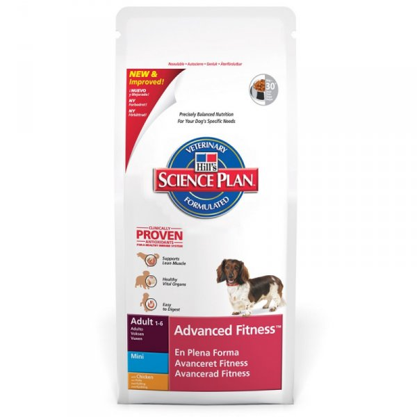 SP Canine Adult Advance Fitness Mini Chicken храна за кучета от дребни породи с умерени енергийни нужди от 1 до 7 г. с пилешко