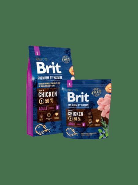 BRIT ADULT PREMIUM S суха храна за израстнали кучета от малки породи