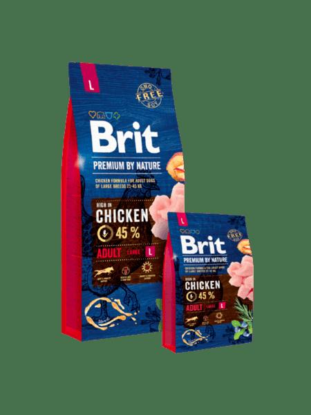 BRIT ADULT PREMIUM L суха храна за израстнали кучета от големи породи