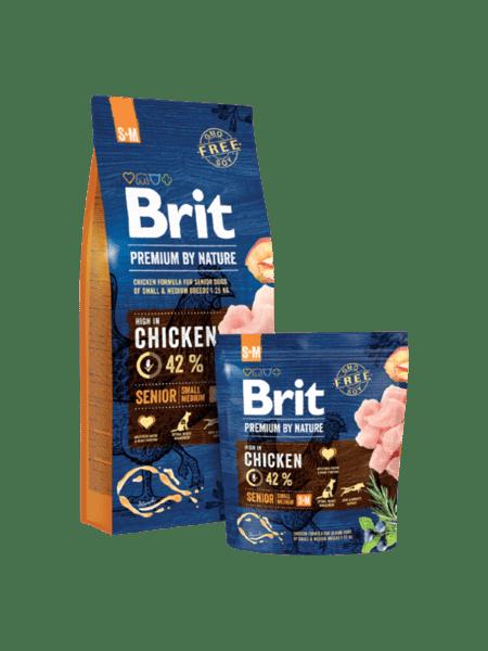 BRIT SENIOR PREMIUM S суха храна за възрастни кучета от малки породи