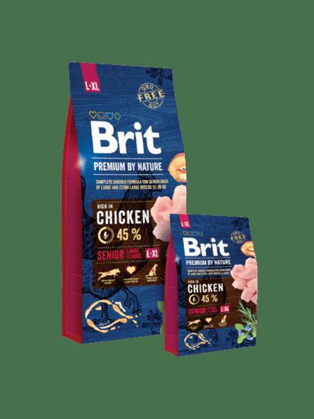 BRIT SENIOR PREMIUM L+XL суха храна за възрастни кучета от големи породи