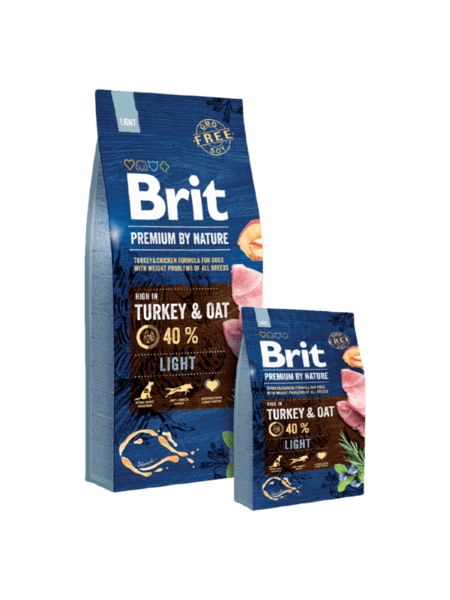 BRIT PREMIUM LIGHT суха храна за кучета с наднормено тегло