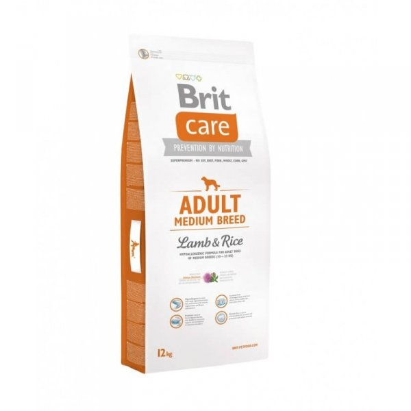 BRIT CARE SUPERPREMIUM ADULT MEDIUM BREED - Пълноценна храна с агнешко