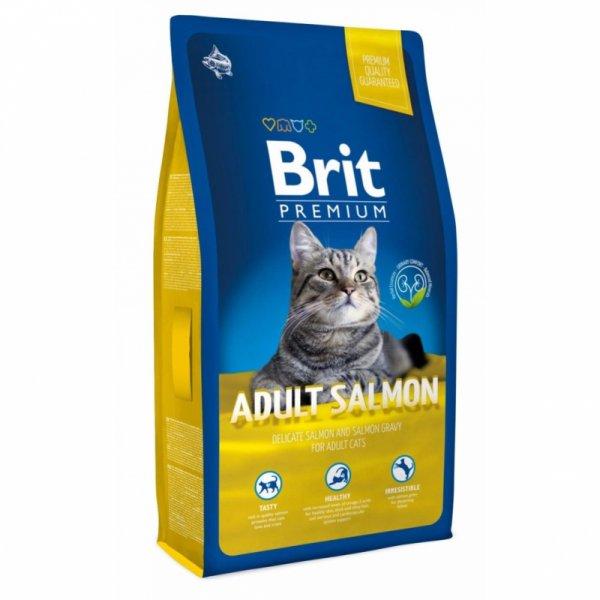 BRIT PREMIUM ADULT SALMON - Пълноценна храна за котки със сьомга