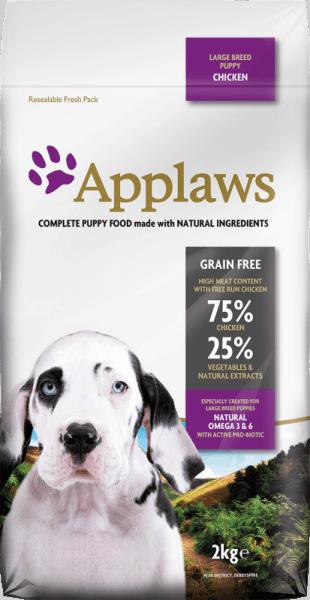Applaws Puppy Large Breed Chicken  суха храна за подрастващи кучета от големи породи