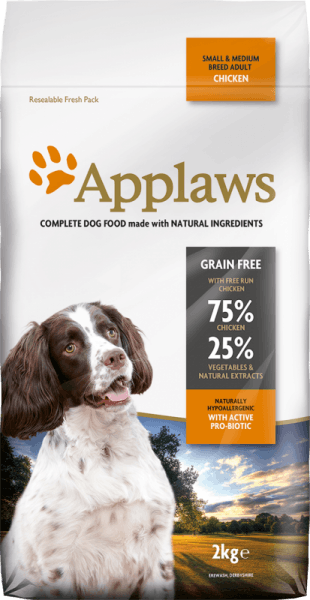 Applaws Adult Small&Medium Breed Chicken суха храна за кучета на 1 година от малки и средни породи