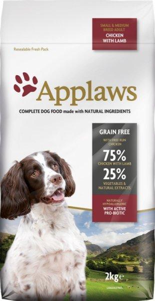 Applaws Adult Small & Medium Breed Chicken with Lamb суха храна за кучета над 1 година за малки и средни породи