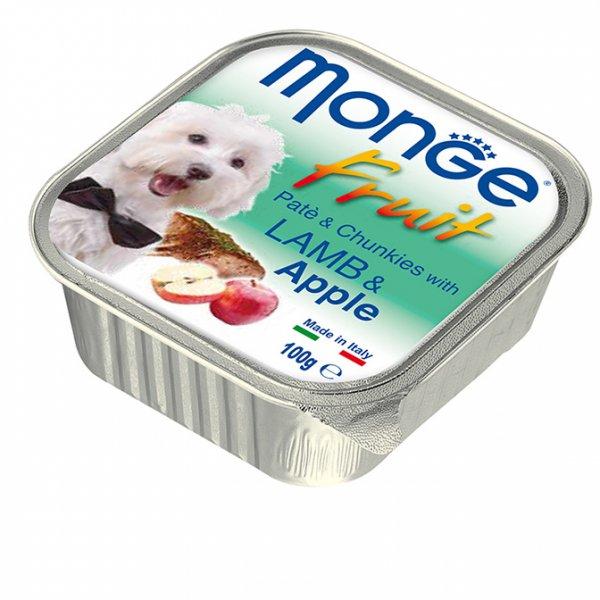 MONGE FRUIT Paté & Chunkies Lamb & Apple пастет - хапки с агнешко и ябълки