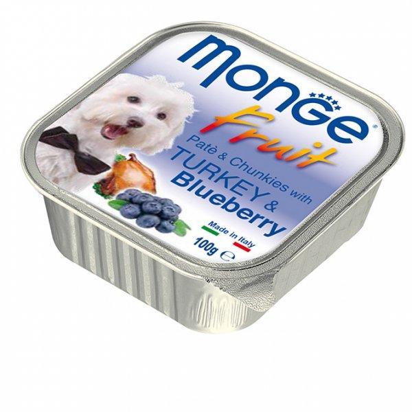 MONGE FRUIT Paté & Chunkies Turkey & Blueberry пастет - хапки с пуйка и боровинки