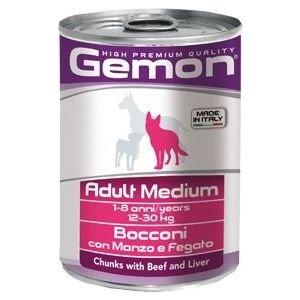 GEMON Adult medium beef & liver - консерва хапки с телешко и черен дроб